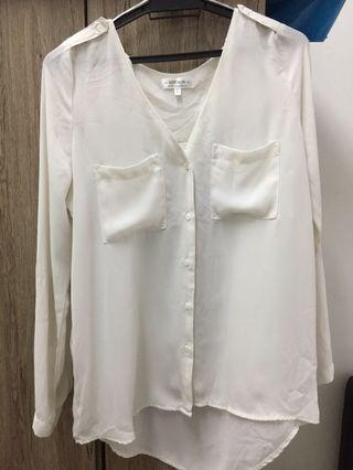 White Blouse white Top