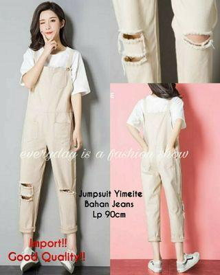 Ec Jumper Yimeite import cream l atasan fashion baju jumpsuit import jumpsit wanita