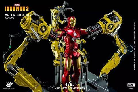 KING ARTS SUIT UP GANTRY WITH IRON MAN MARK4 Diecast