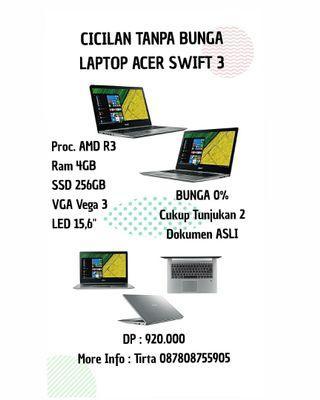 Laptop Acer Swift 3 Ryzen 3 Bisa Cicilan Tanpa Bunga