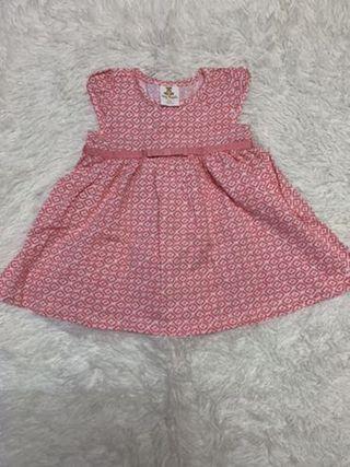 Tiny Button dress 0-6 mths