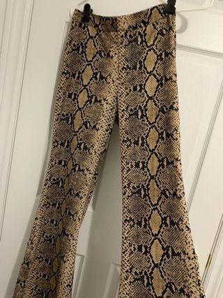 ZARA - wide leg snake pants