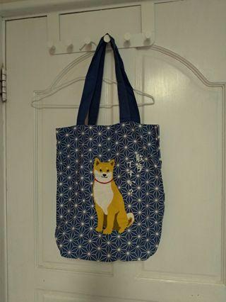 東京購入柴犬帆布包