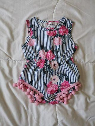 Brand New floral baby girl romper