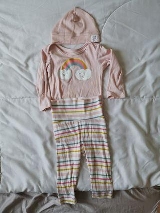 H&M pyjamas romper and long pants set