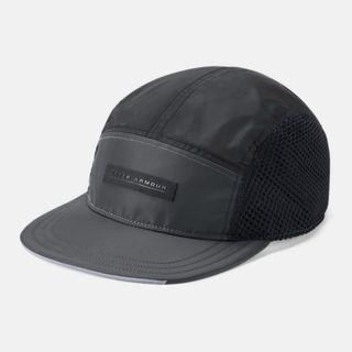 """UA Windbreaker Camper Cap "" Under Armour UA 全新 黑色 拼接 可調節 棒球帽 平沿帽 老帽 運動帽 球帽 帽子 1318511"