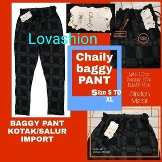 Baggy pant / celana kotak pink/import murah