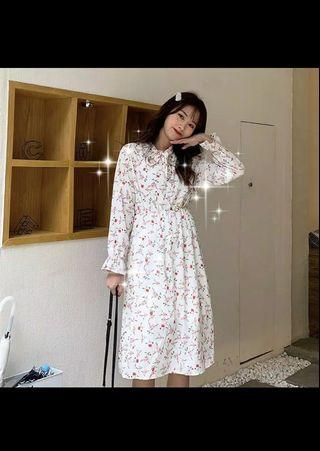 Dress korean style flowers