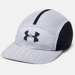 """Men's UA Run Packable Cap"" Under Armour UA 全新 淺灰色 網眼拼接 可調節 棒球帽 鴨舌帽 老帽 運動帽 球帽 帽子 1305013"