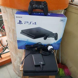 PS 4 SLIM 500GB LUS HARDISK 1TB FULL GAME DIGITAL