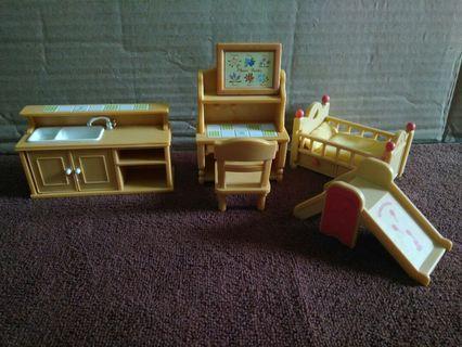Sylvanian families furniture setL