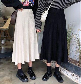 全新 麻花針織裙 米白 杏 freesize