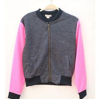 CHROMA TALE Jacket Grey Pink