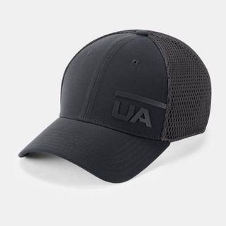 """Men's UA Train Spacer Mesh Cap"" Under Armour UA 全新 黑色 撞色 網眼 棒球帽 鴨舌帽 老帽 運動帽 球帽 帽子 網帽 1305041"