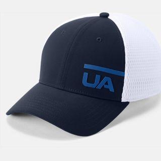 """Men's UA Train Spacer Mesh Cap"" Under Armour UA 全新 深藍色 撞色 網眼 棒球帽 鴨舌帽 老帽 運動帽 球帽 帽子 網帽 1305041"