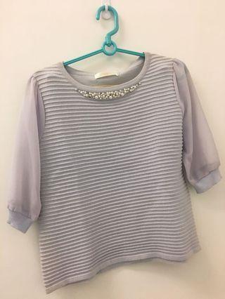 日本品牌上衣粉紫色 標未拆 在日本買的