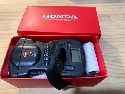 HONDA 旅行箱束帶+密碼鎖+海關鎖+電子秤