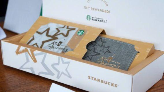 Starbucks Card 5th Anniversary Card with Luggage Tag