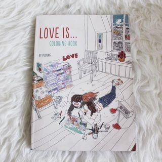 LOVE IS... Coloring Book by Puuung