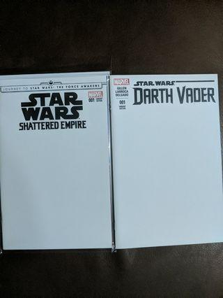 Marvel Star Wars blank covers for sale