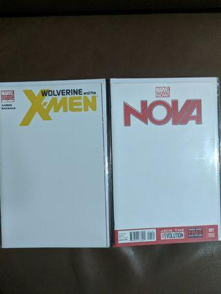 Marvel Blank covers various titles for sale