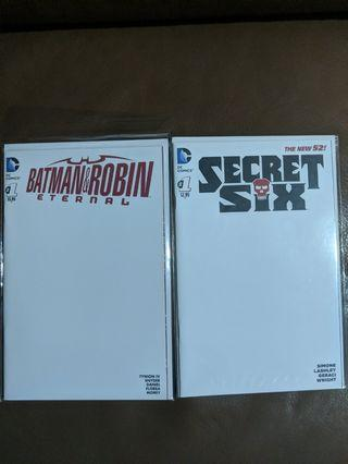 DC Blank covers various titles for sale