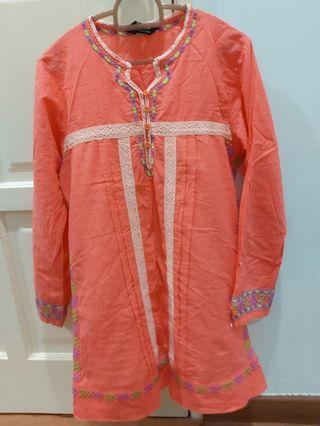 Orange colour blouse