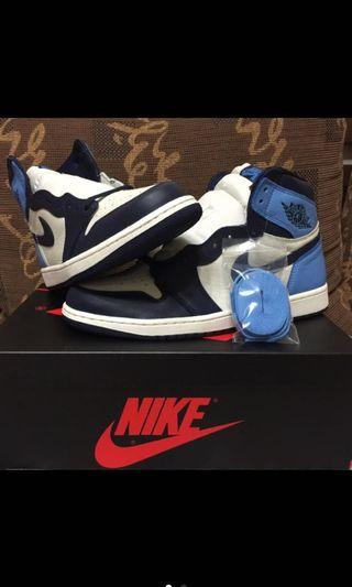 全新 ALL new air Jordan 1 obsidian 黑曜石 US10.5