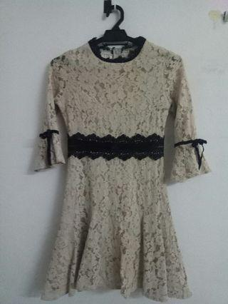 My Little Brown Lace Dress