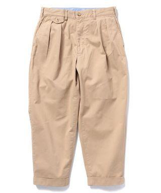 Beams Plus 雙打折卡其工裝褲 上寬下窄