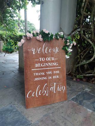 Wedding Welcome Signboard