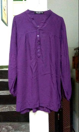 Atasan blouse kemeja ungu