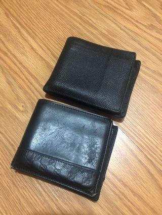 Authentic GUCCI & BURBERRY MEN'S WALLET