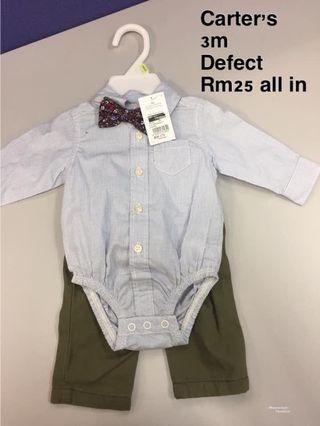 Baby Boy Romper-Extra Defect Item