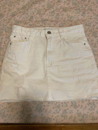 Korea-白色褲裙