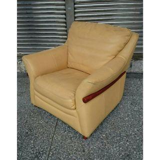 【健利傢俱行】單人沙發 真皮 二手單人沙發 中古單人沙發