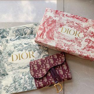 Dior老花錢包