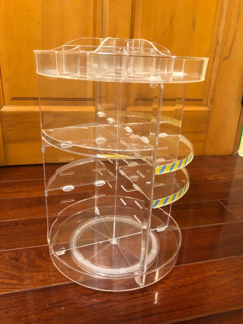 360度透明壓克力化妝品置物轉盤