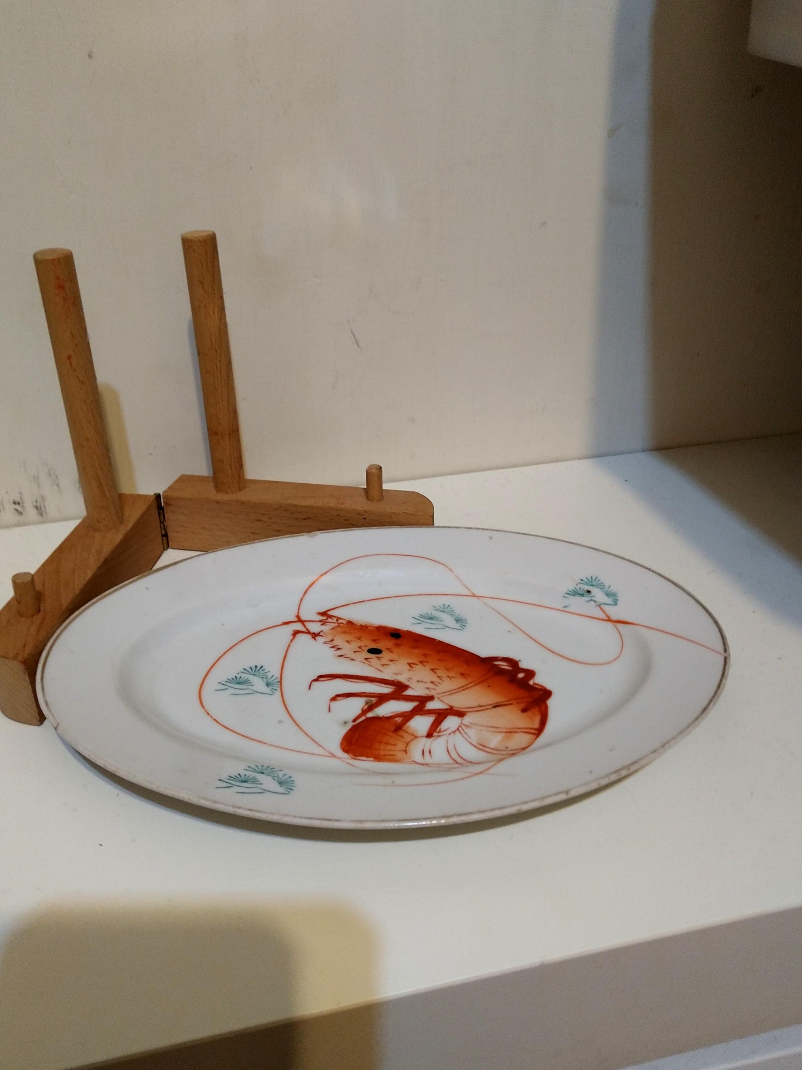 早期蝦瓷盤