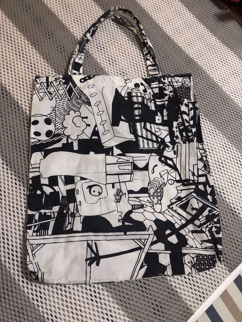 泰國黑白帆布袋