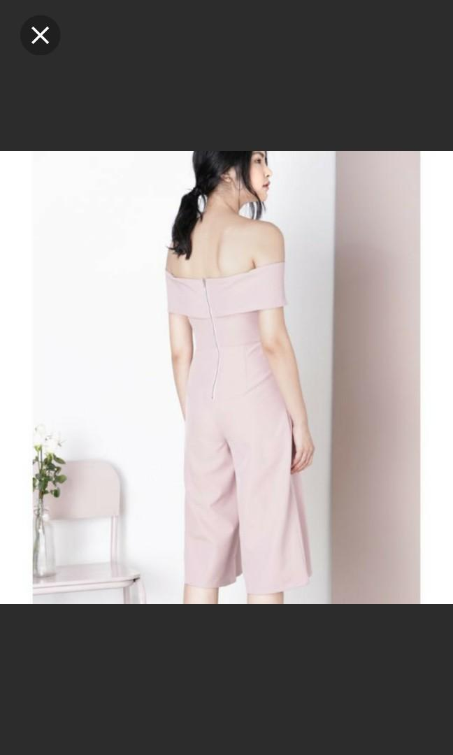 Andwelldressed paradigm cross front jumpsuit in mauve