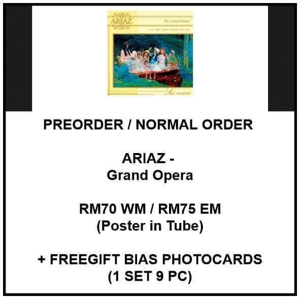 ARIAZ - Grand Opera  - PREORDER/NORMAL ORDER/GROUP ORDER/GO + FREE GIFT BIAS PHOTOCARDS (1 ALBUM GET 1 SET PC, 1 SET GET 9 PC)