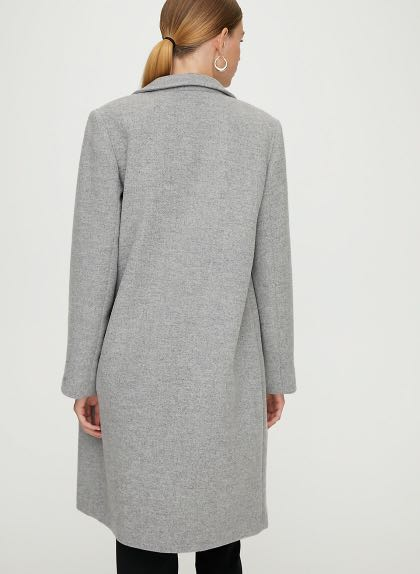 Aritzia Babaton Stedman Heather Light Grey wool coat