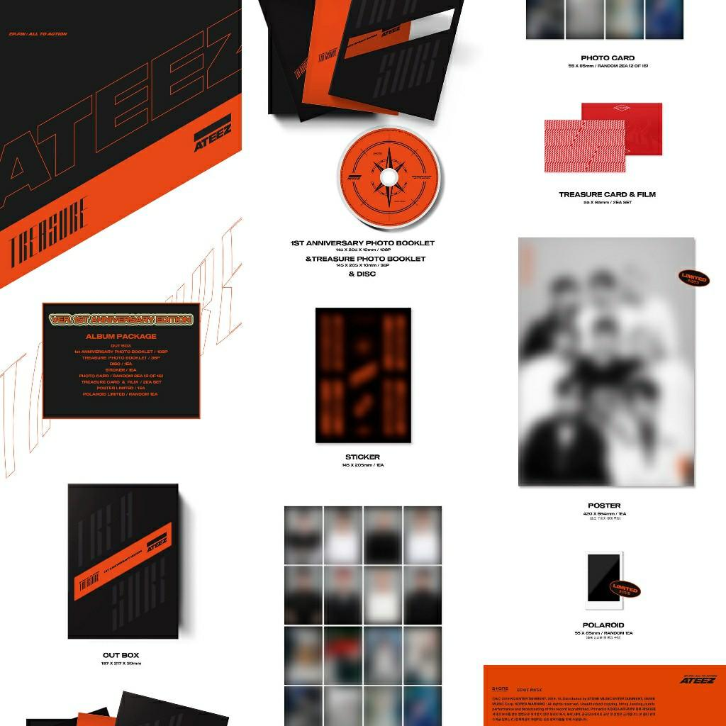 [LIMITED EDITION] ATEEZ -  [TREASURE EP.FIN : All To Action] 1st Anniversary Edition Ver