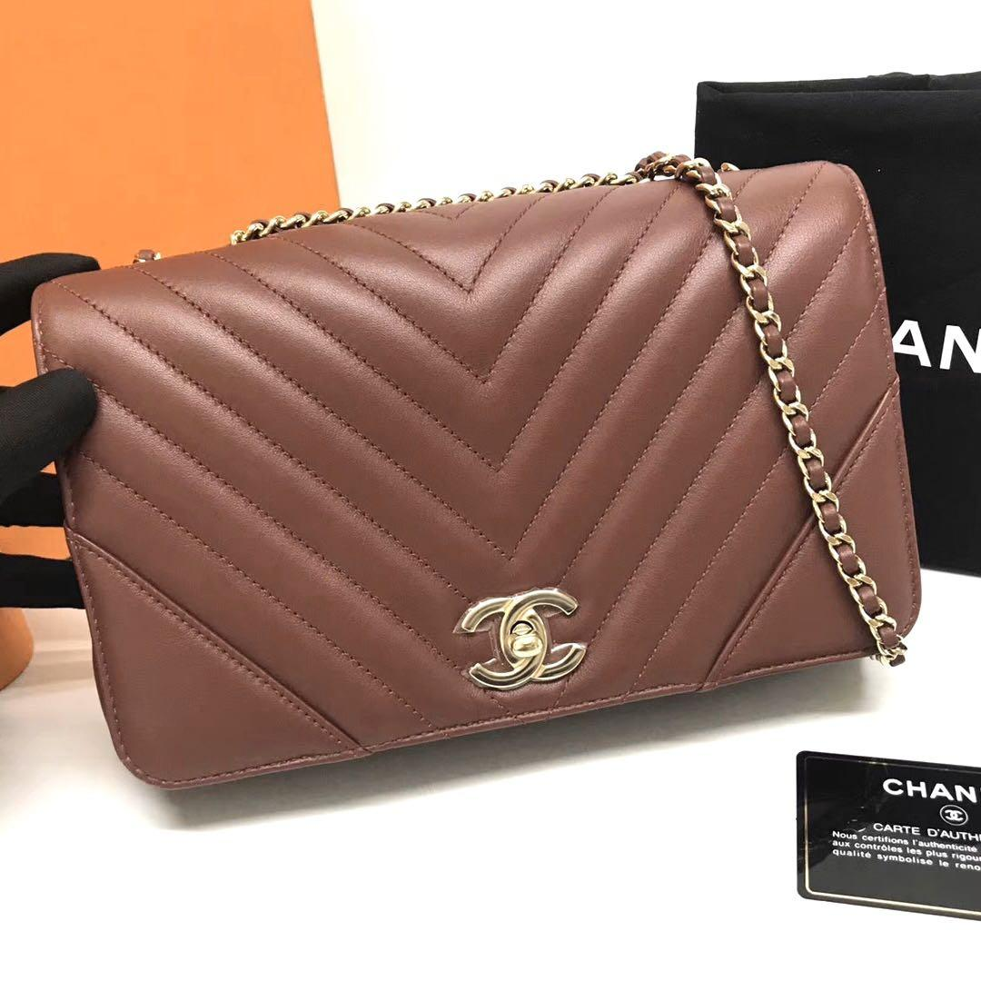 Authentic Brand New Chanel Chevron Flap Bag