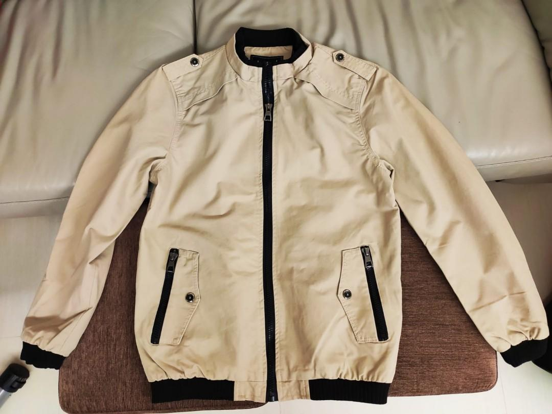 Autumn beige colour light jacket