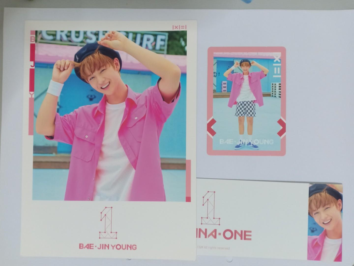 Bae jinyong to be one pink ver full set