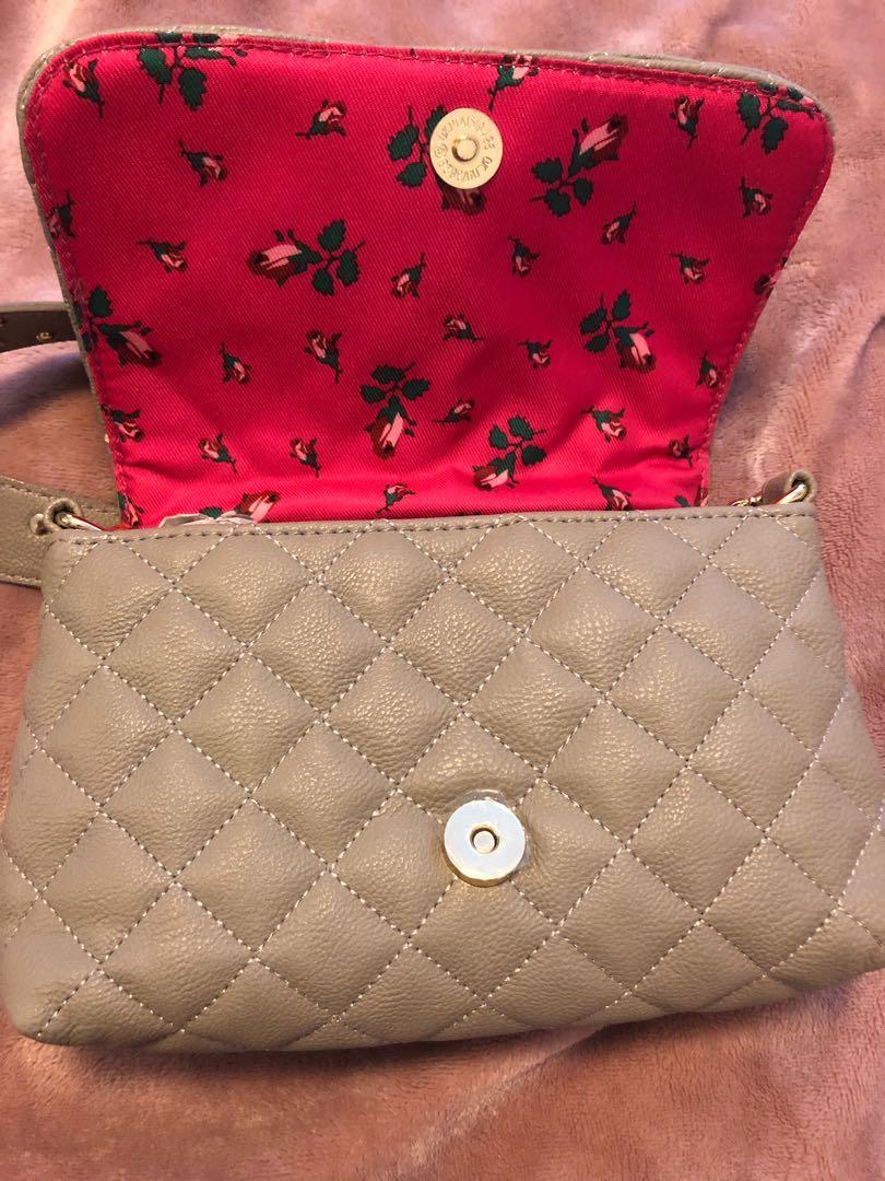 Betsey Johnson Cross-body Flap Bag with Beautiful Flower Strap