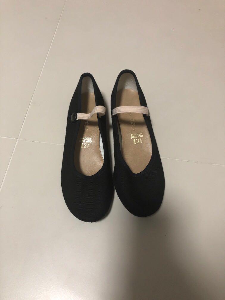 Katz Rad Character Low Heel Syllabus Women Exam Ballet Dance Shoes Black Canvas