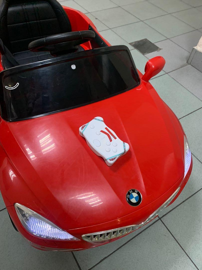 PRICE NEGO!!BMW  kids electric ride on car+parents remote control